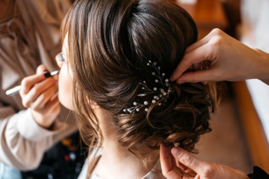 Bridal hair in Taunton, Somerset